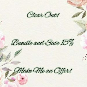 !!MAKE AN OFFER!!BUNDLE FOR 15% DISCOUNT!!